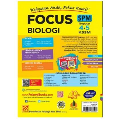 FOCUS SPM BIOLOGY FORM 5 KSSM (2021)