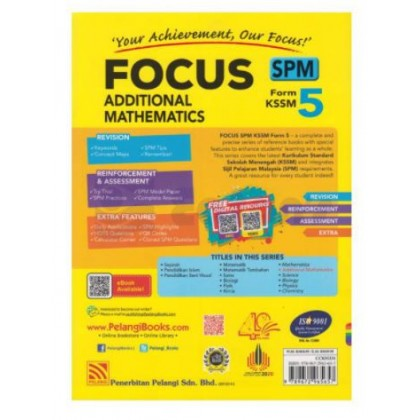 FOCUS SPM ADDITIONAL MATHEMATICS FORM 5 KSSM (2021)