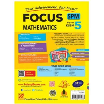 FOCUS SPM MATHEMATICS FORM 5 KSSM (2021)