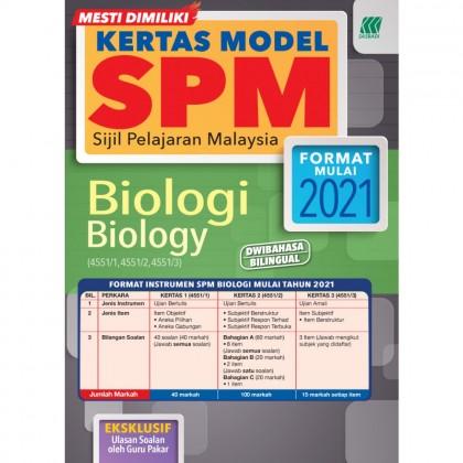 KERTAS MODEL SPM - BIOLOGI (4551/1, 4551/2, 4551/3)
