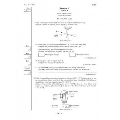 KERTAS MODEL SPM - FIZIK (4531/1, 4531/2, 4531/3)