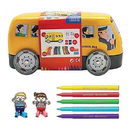 20 CONNECTOR PENS SCHOOL BUS